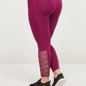 Lane Bryant-LIVI 7/8 Power Legging - Lace Side